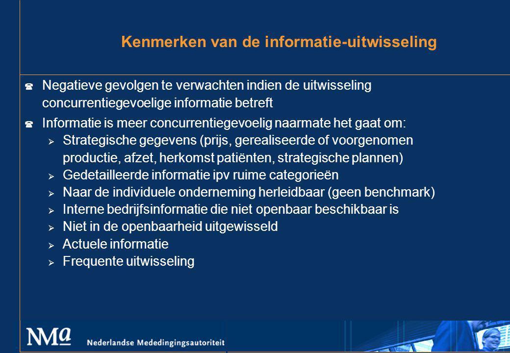 Kenmerken van de informatie-uitwisseling