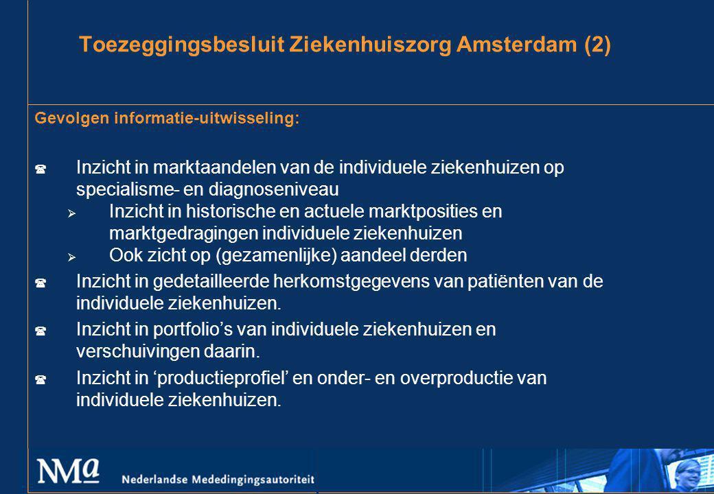 Toezeggingsbesluit Ziekenhuiszorg Amsterdam (2)