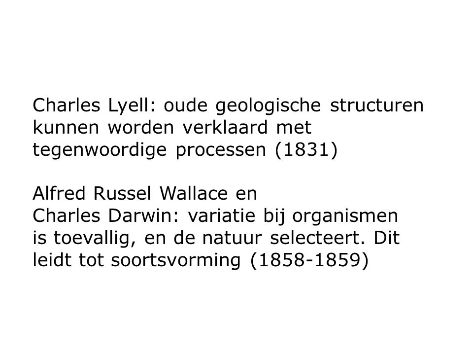 Charles Lyell: oude geologische structuren