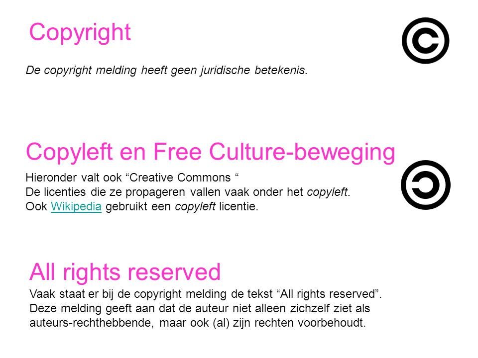 Copyleft en Free Culture-beweging