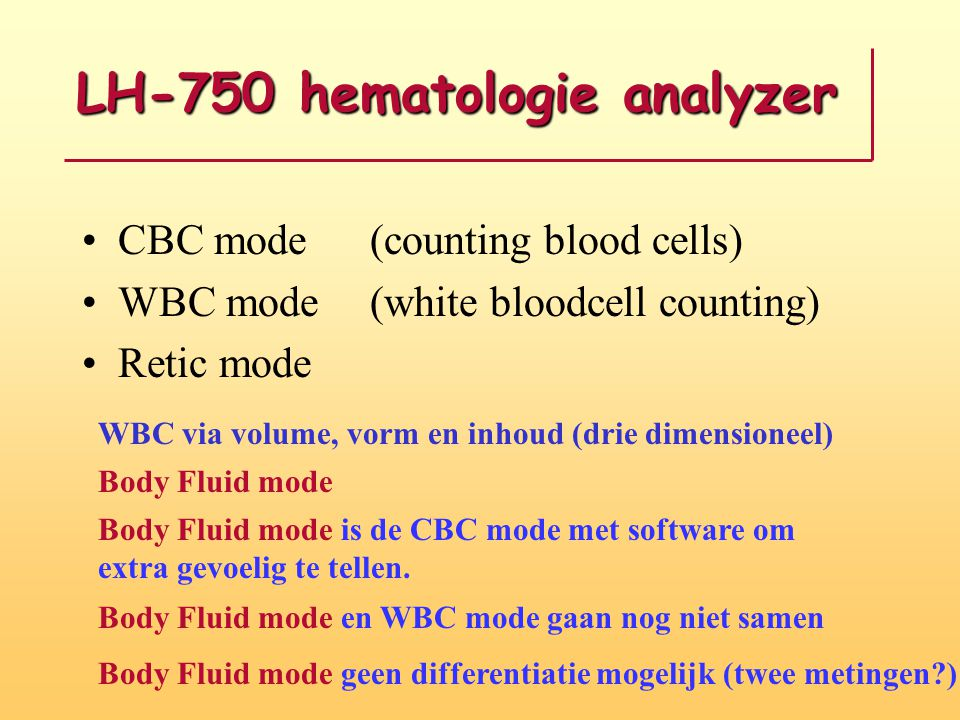LH-750 hematologie analyzer
