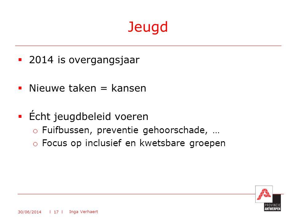 Jeugd 2014 is overgangsjaar Nieuwe taken = kansen