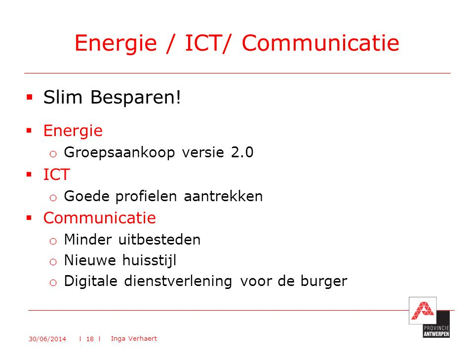 Energie / ICT/ Communicatie