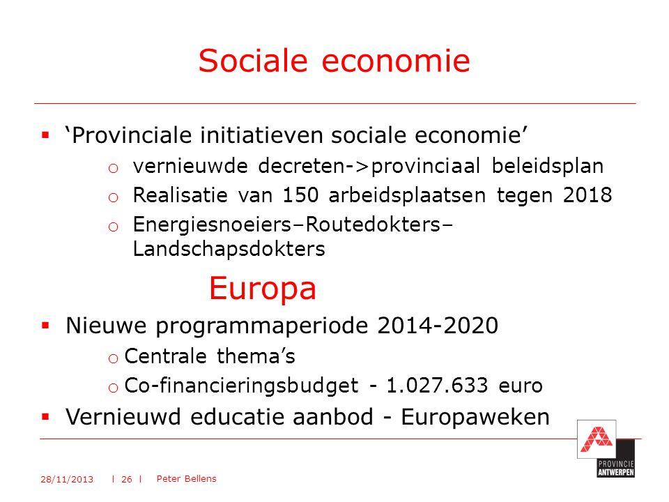 Sociale economie Europa 'Provinciale initiatieven sociale economie'