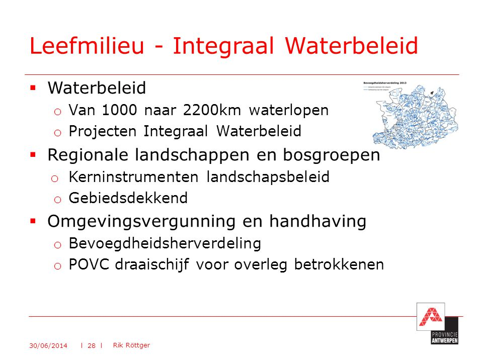 Leefmilieu - Integraal Waterbeleid