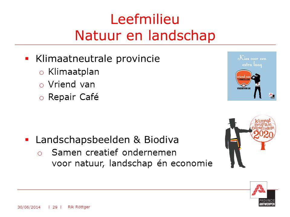 Leefmilieu Natuur en landschap