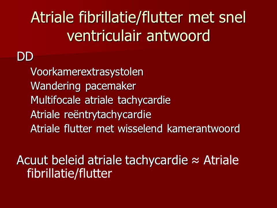 Atriale fibrillatie/flutter met snel ventriculair antwoord