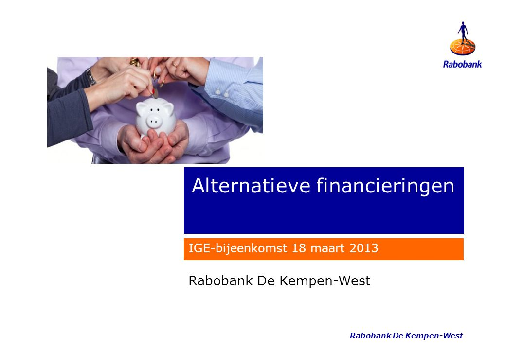 Alternatieve financieringen