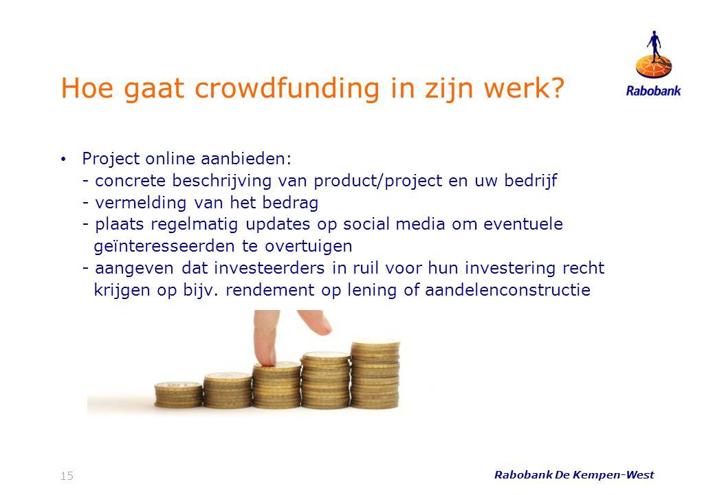Hoe gaat crowdfunding in zijn werk