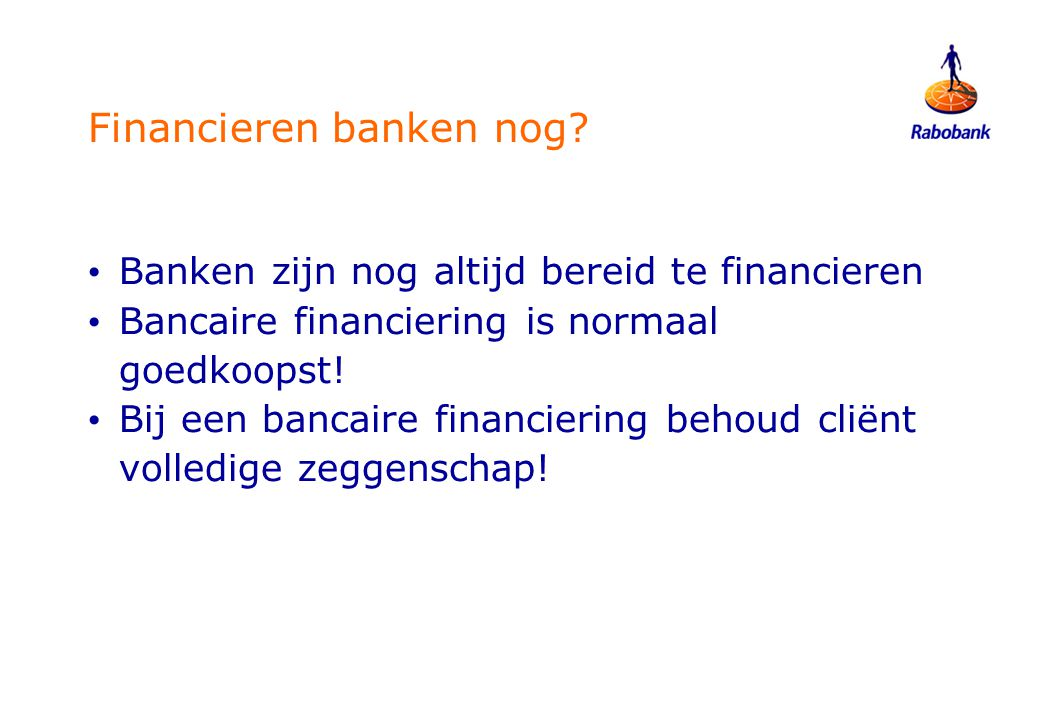Financieren banken nog