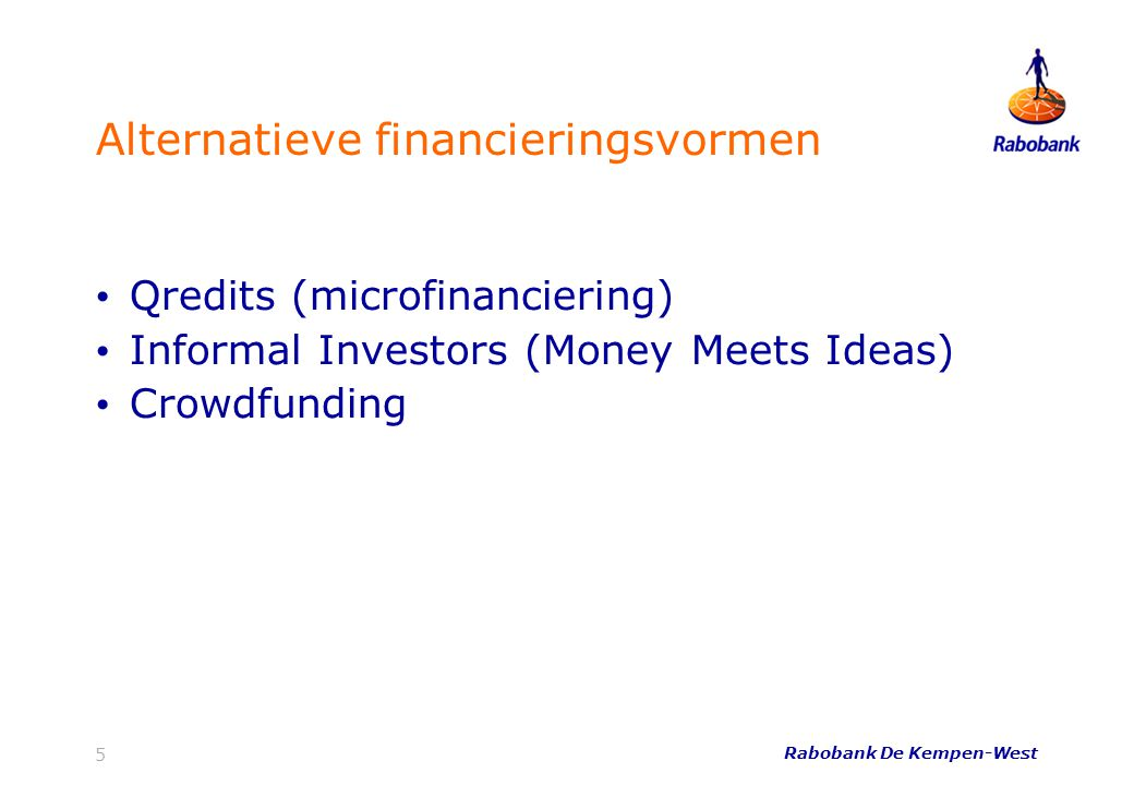 Alternatieve financieringsvormen