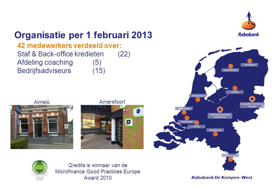 Organisatie per 1 februari 2013