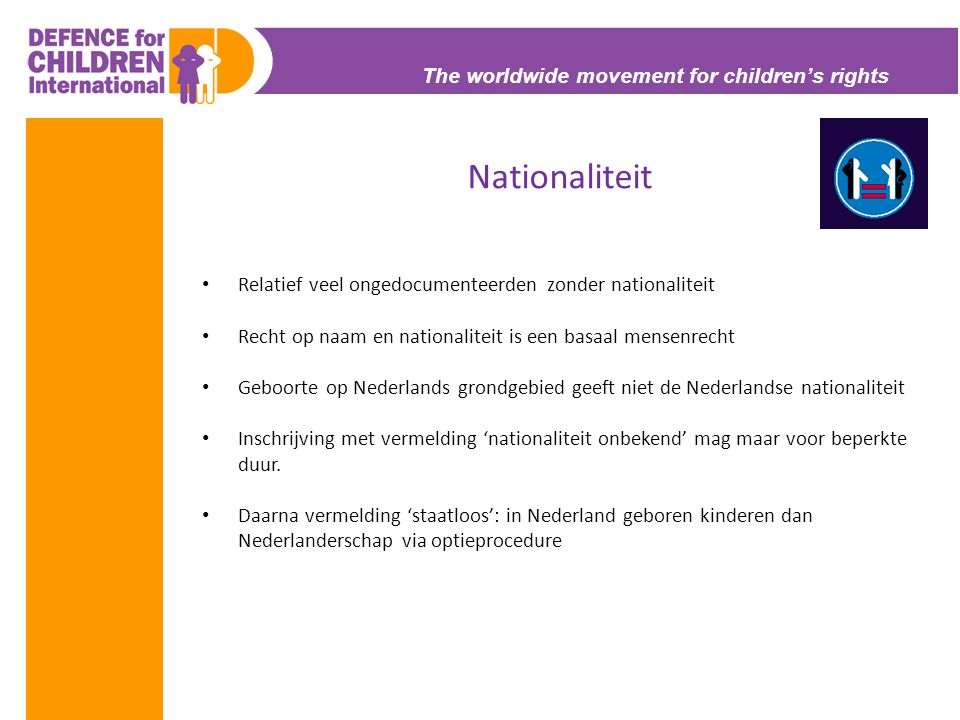 Nationaliteit The worldwide movement for children's rights
