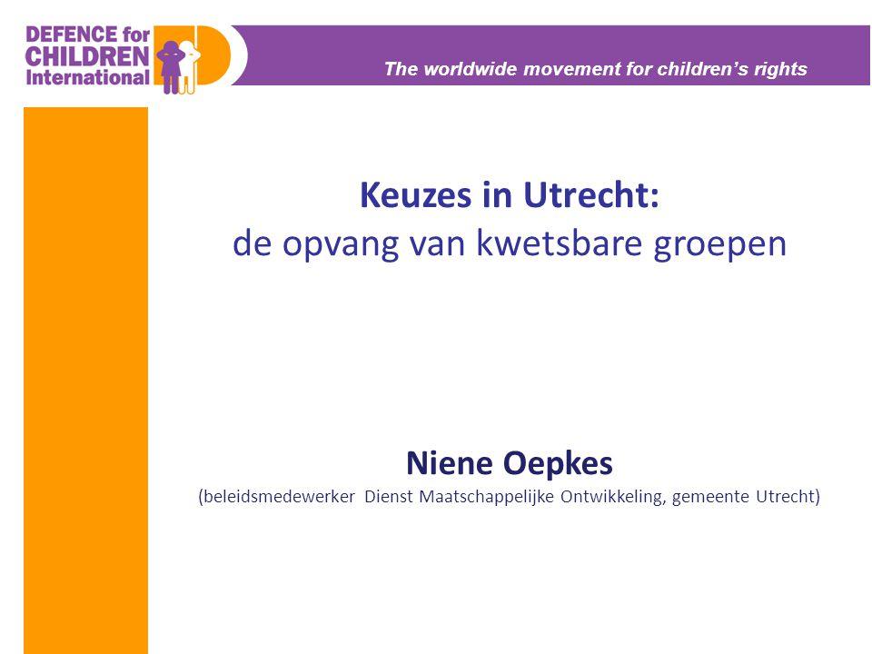 Keuzes in Utrecht: de opvang van kwetsbare groepen