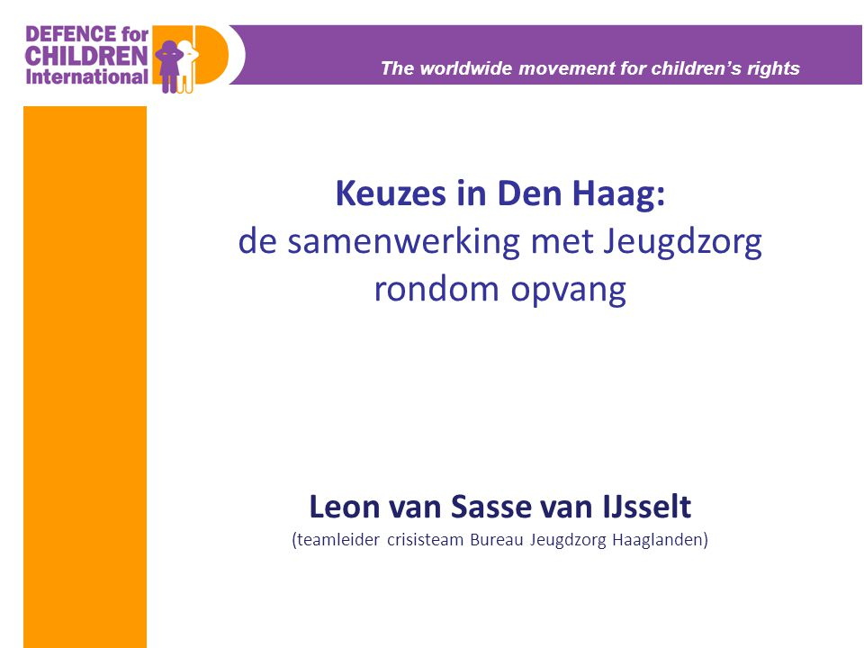 Keuzes in Den Haag: de samenwerking met Jeugdzorg rondom opvang