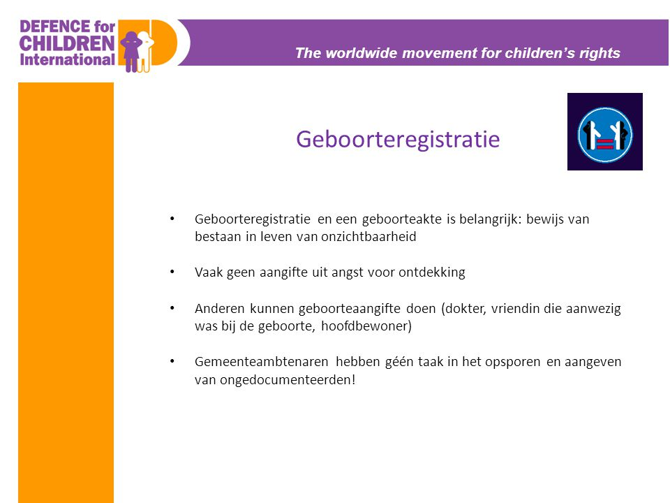 Geboorteregistratie The worldwide movement for children's rights