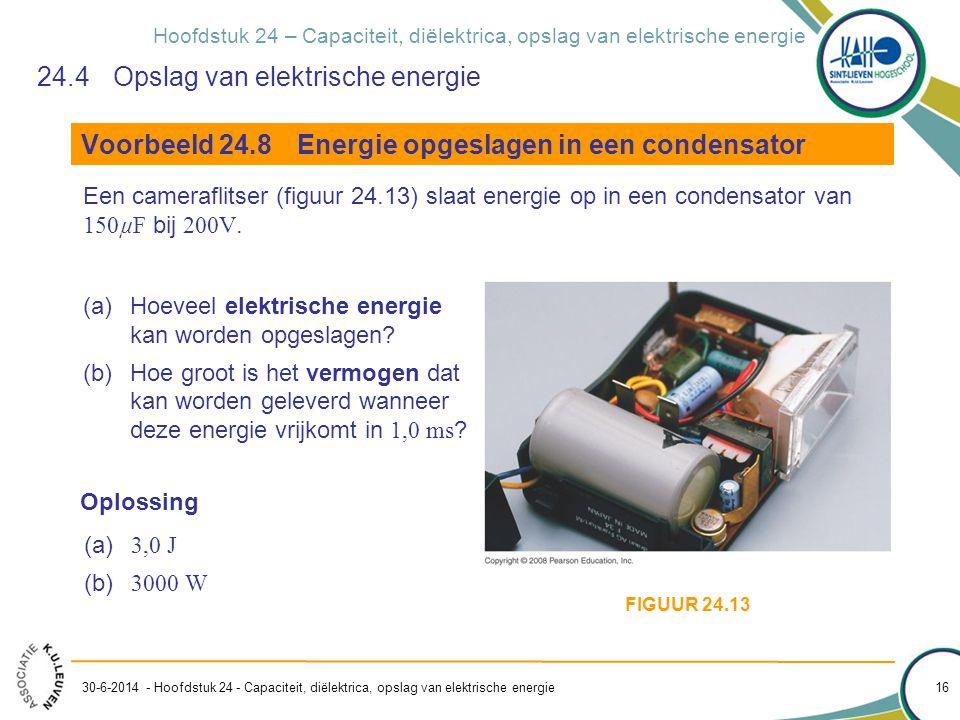 24.4 Opslag van elektrische energie