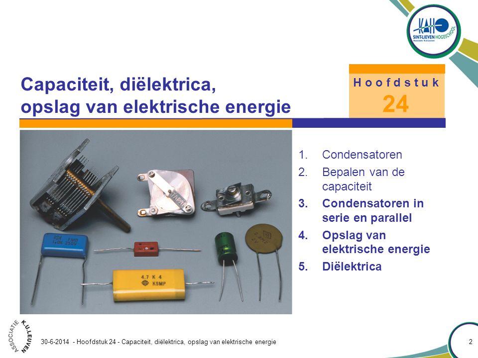 Capaciteit, diëlektrica, opslag van elektrische energie