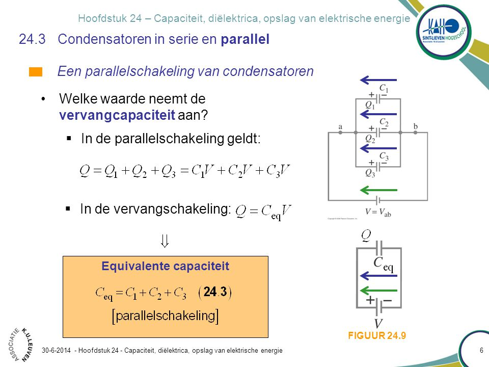 24.3 Condensatoren in serie en parallel