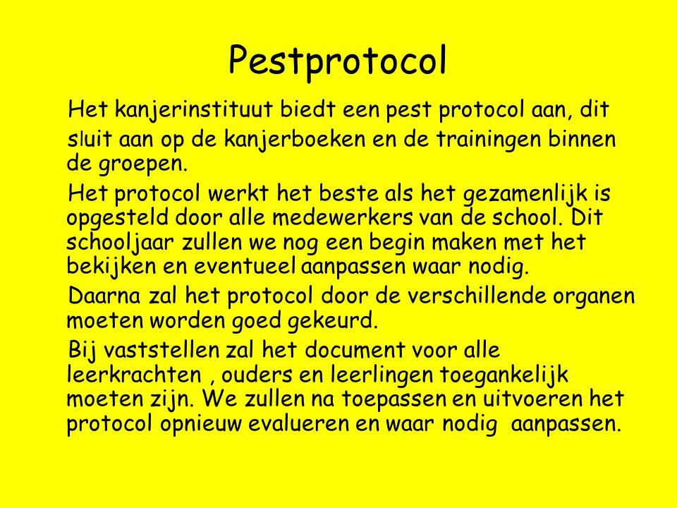 Pestprotocol Het kanjerinstituut biedt een pest protocol aan, dit