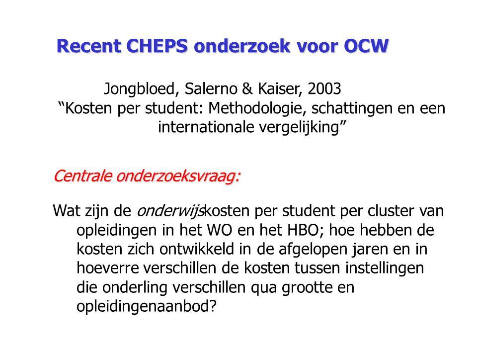 Recent CHEPS onderzoek voor OCW
