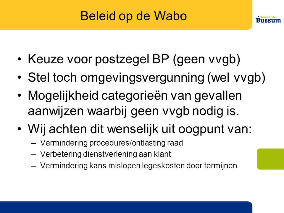 Keuze voor postzegel BP (geen vvgb)