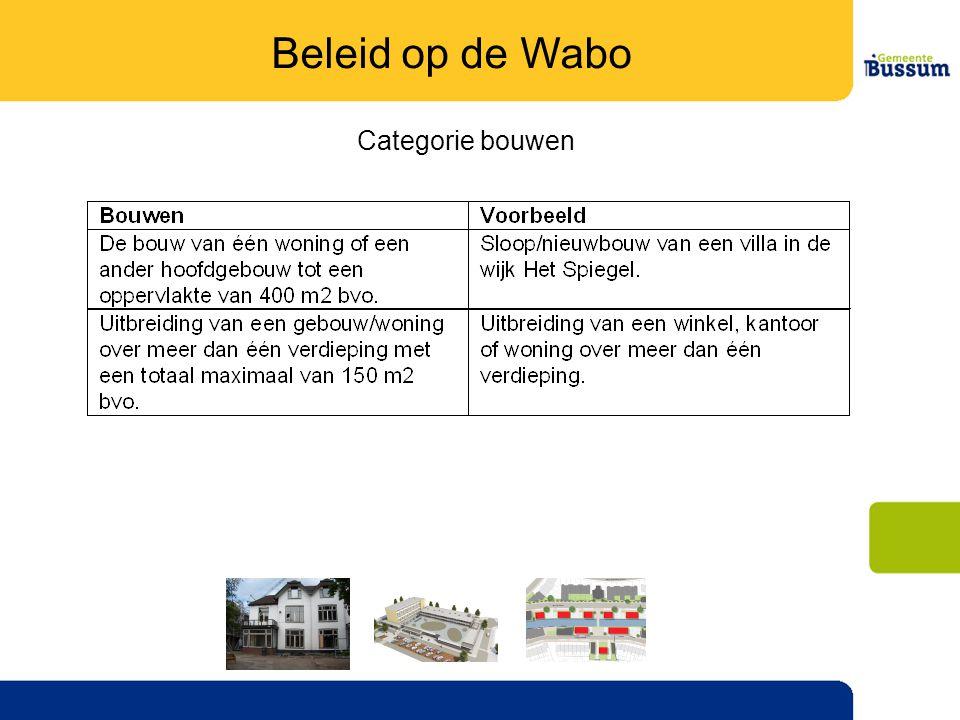 Beleid op de Wabo Categorie bouwen