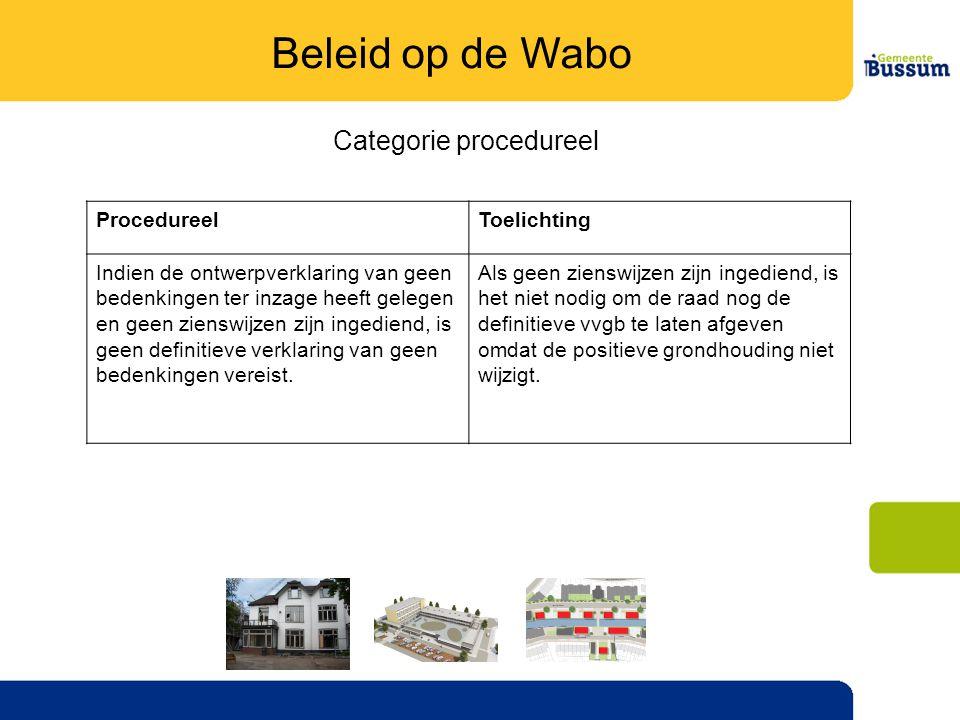 Categorie procedureel