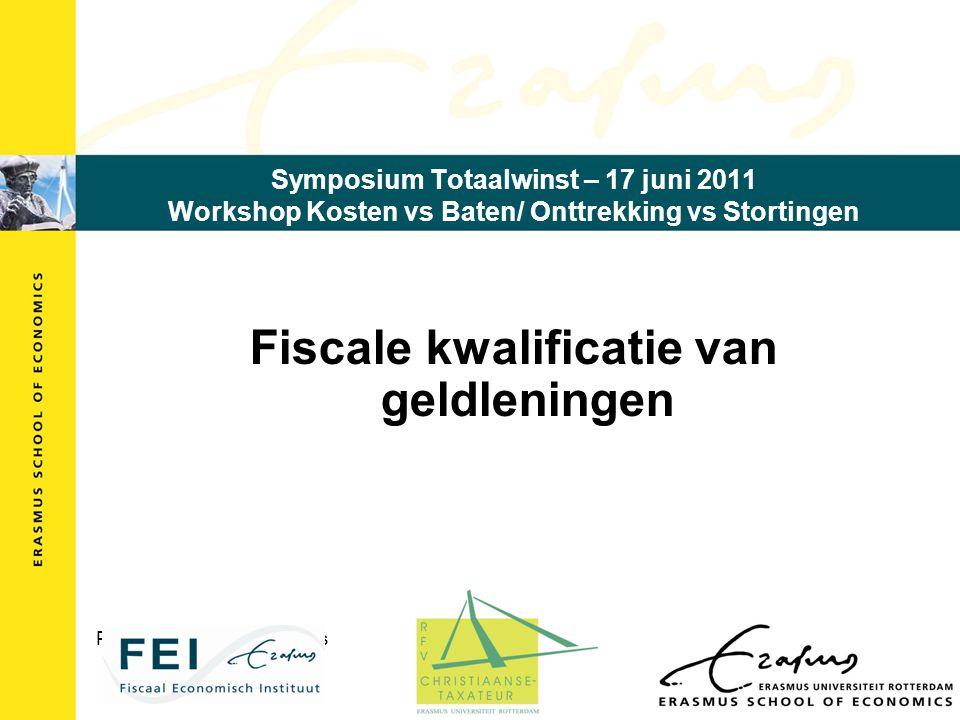 Fiscale kwalificatie van geldleningen Prof. dr. mr. E.J.W. Heithuis