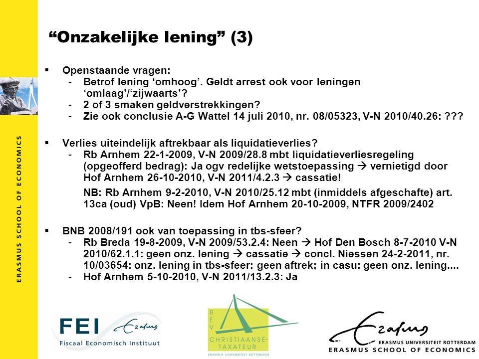 Onzakelijke lening (3)