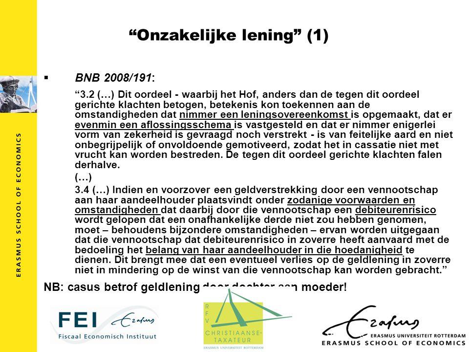 Onzakelijke lening (1)
