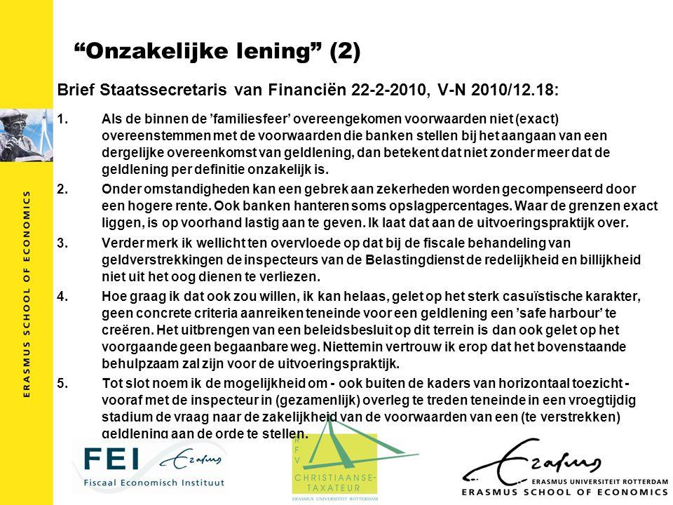 Onzakelijke lening (2)