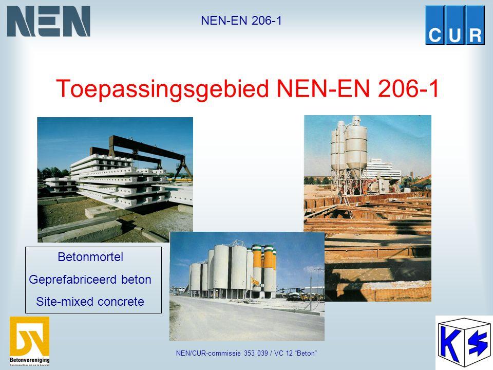 Toepassingsgebied NEN-EN 206-1