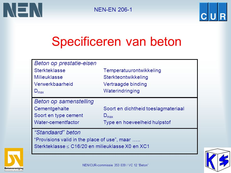 Specificeren van beton