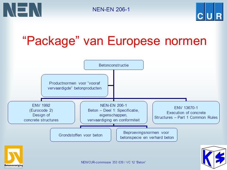 Package van Europese normen