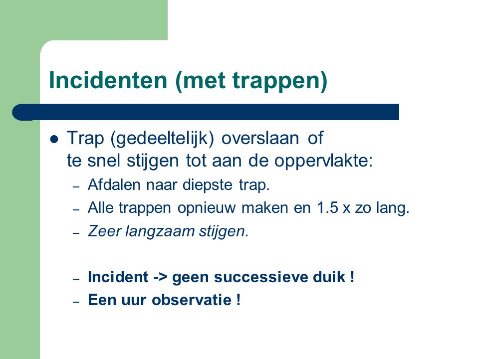 Incidenten (met trappen)