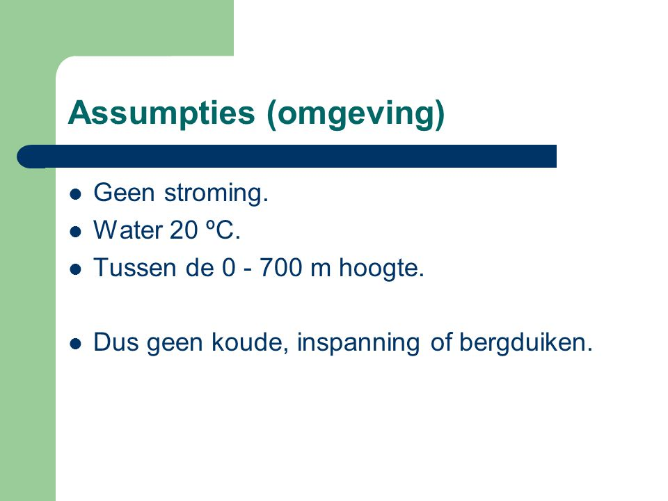 Assumpties (omgeving)