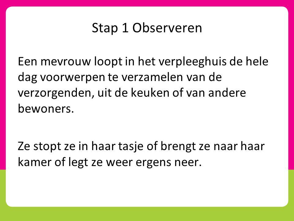 Stap 1 Observeren