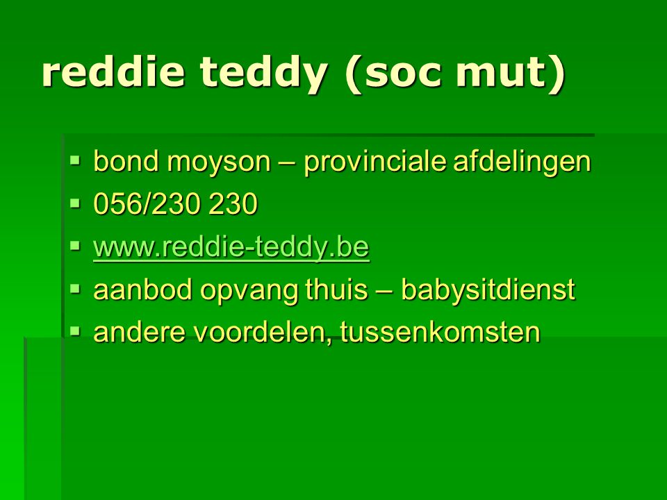 reddie teddy (soc mut) bond moyson – provinciale afdelingen
