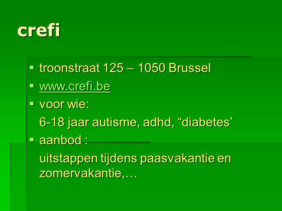crefi troonstraat 125 – 1050 Brussel www.crefi.be voor wie:
