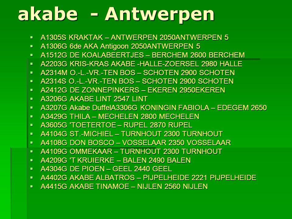 akabe - Antwerpen A1305S KRAKTAK – ANTWERPEN 2050ANTWERPEN 5