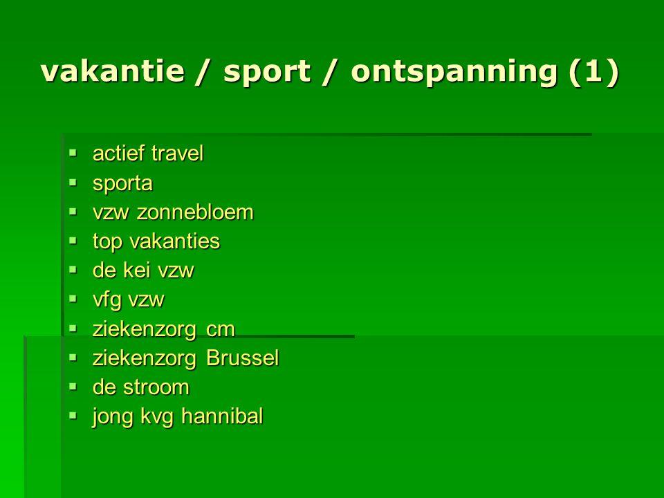 vakantie / sport / ontspanning (1)