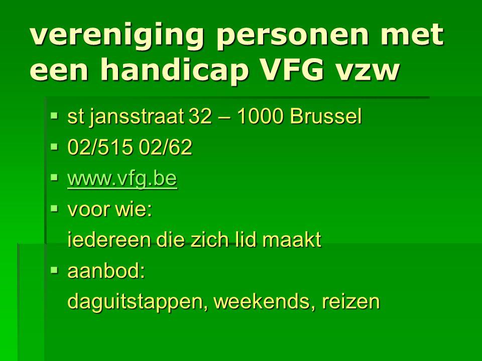 vereniging personen met een handicap VFG vzw