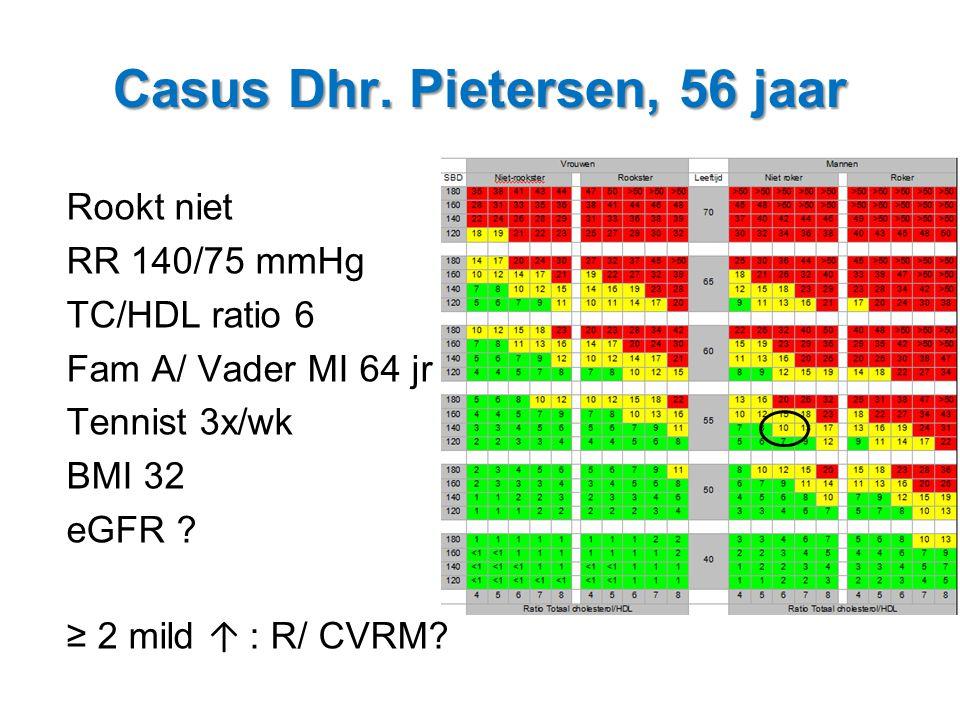 Casus Dhr. Pietersen, 56 jaar
