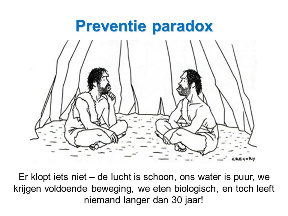 Preventie paradox