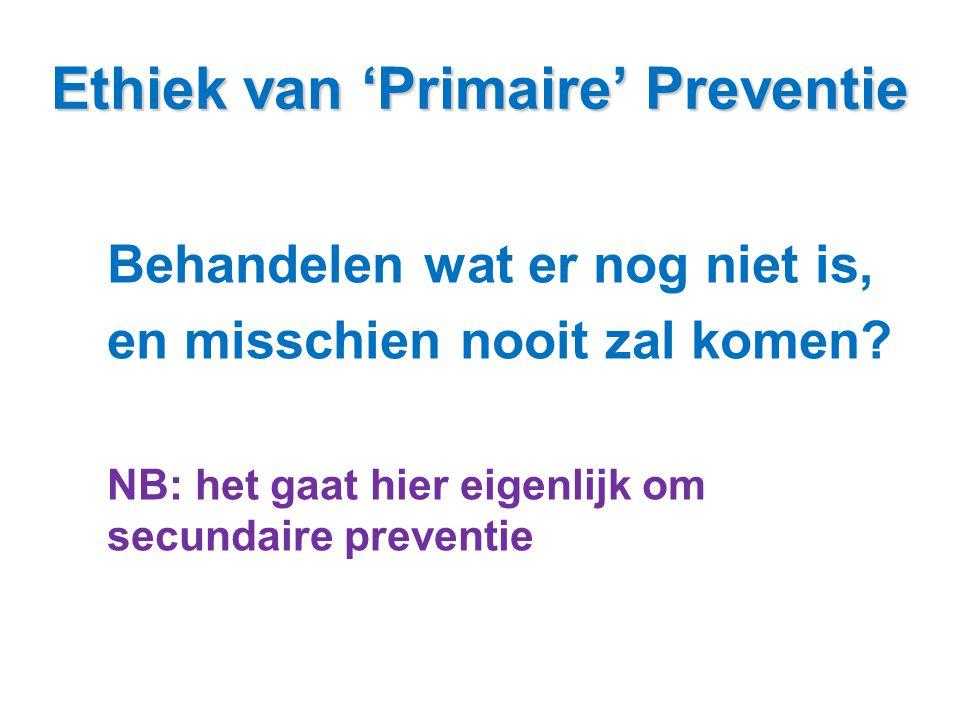 Ethiek van 'Primaire' Preventie