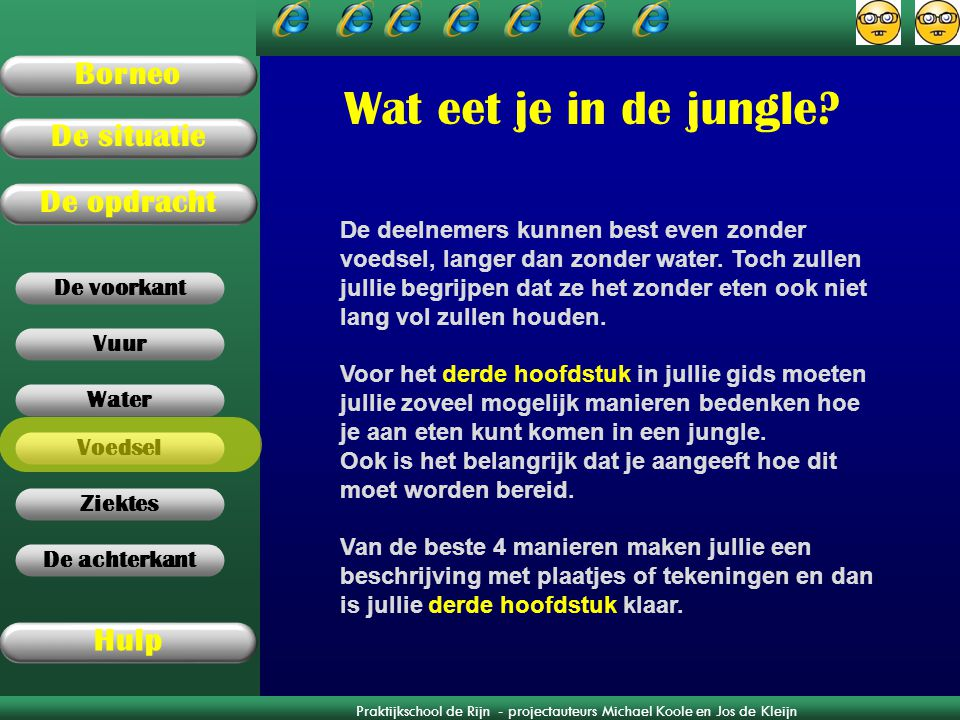 Wat eet je in de jungle