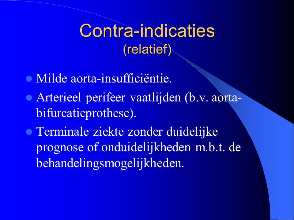 Contra-indicaties (relatief)