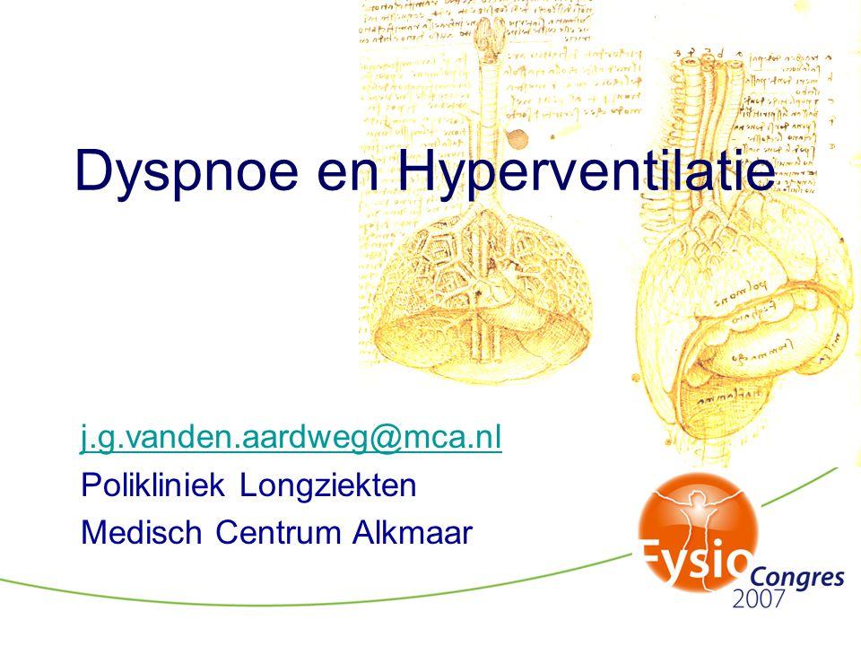 Dyspnoe en Hyperventilatie