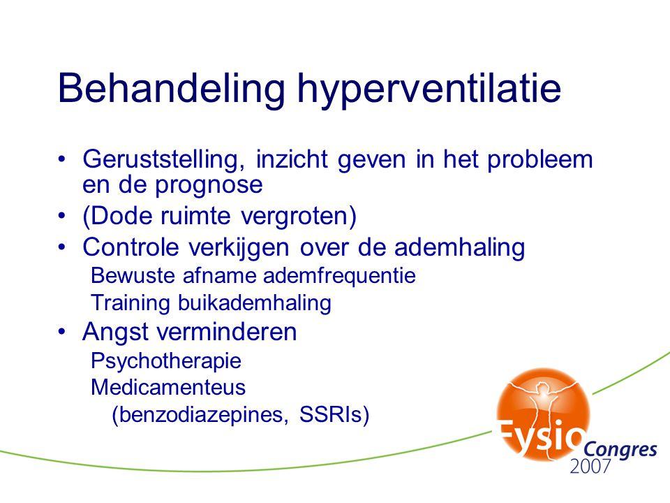 Behandeling hyperventilatie
